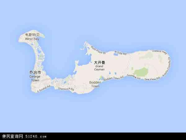 开曼群岛地图 - 开曼群岛电子地图 - 开曼群岛高清地图 - 2016年开曼群岛地图
