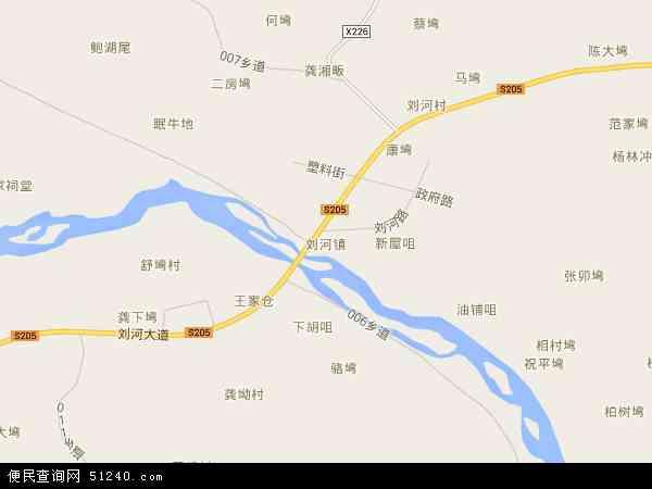 刘河镇地图 - 刘河镇电子地图 - 刘河镇高清地图 - 2018年刘河镇地图
