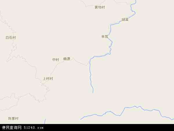 中国福建省龙岩市连城县赖源乡地图(卫星地图)