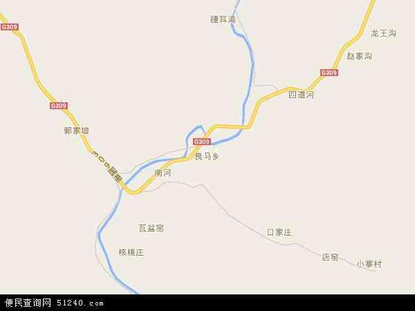 中国山西省临汾市安泽县良马乡地图(卫星地图)
