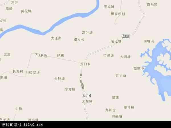 龙口乡地图 - 龙口乡卫星地图