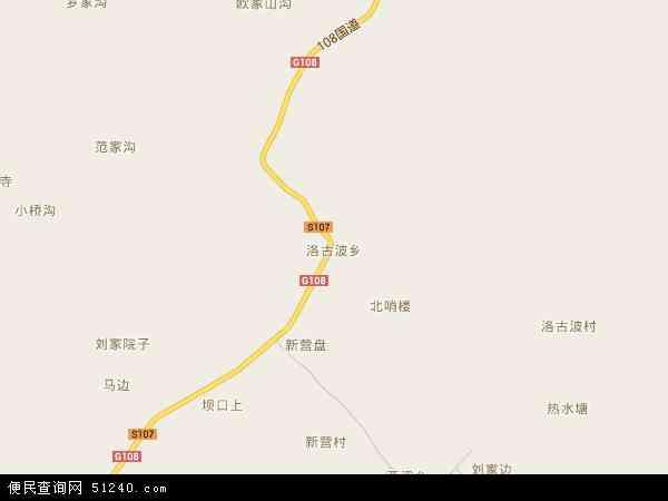 洛古波乡地图 - 洛古波乡电子地图