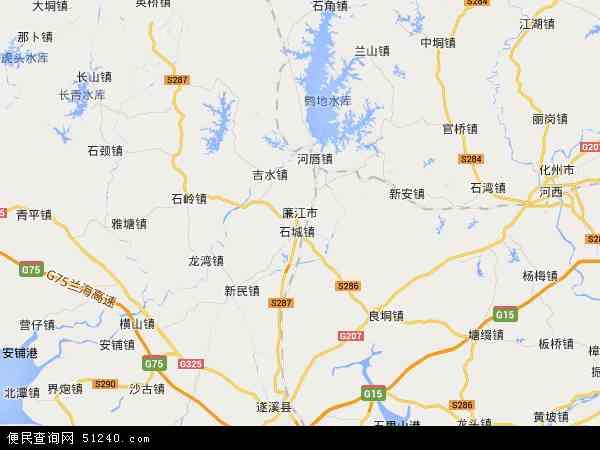 廉江市地图 - 廉江市卫星地图