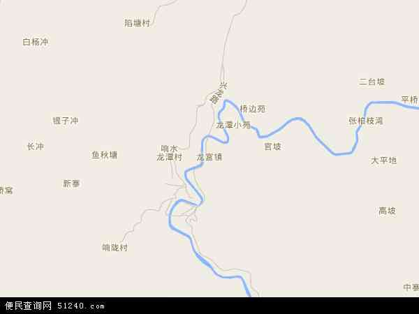 中国贵州省安顺市西秀区龙宫镇地图(卫星地图)