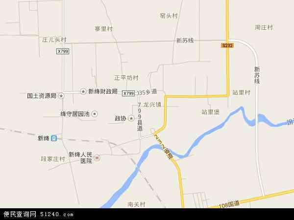 龙兴镇2016年卫星地图 中国山西省运城市新绛县龙兴镇地图图片
