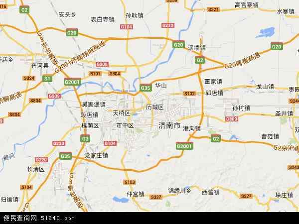 历城区高清卫星地图 历城区2017年卫星地图 中国山东省济南市历城