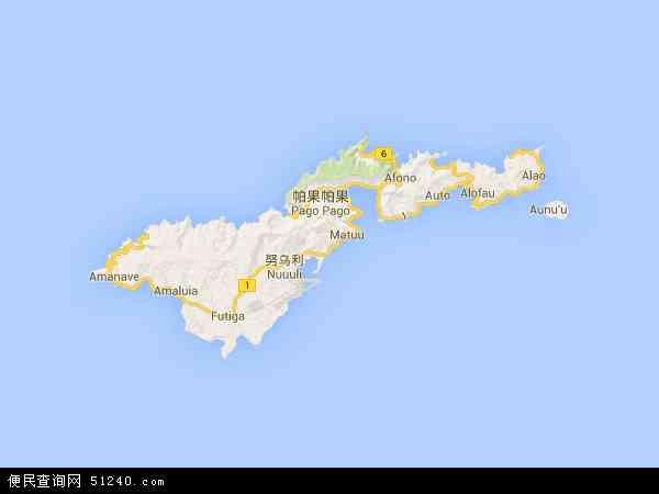 美属萨摩亚地图 - 美属萨摩亚电子地图 - 美属萨摩亚高清地图 - 2016年美属萨摩亚地图