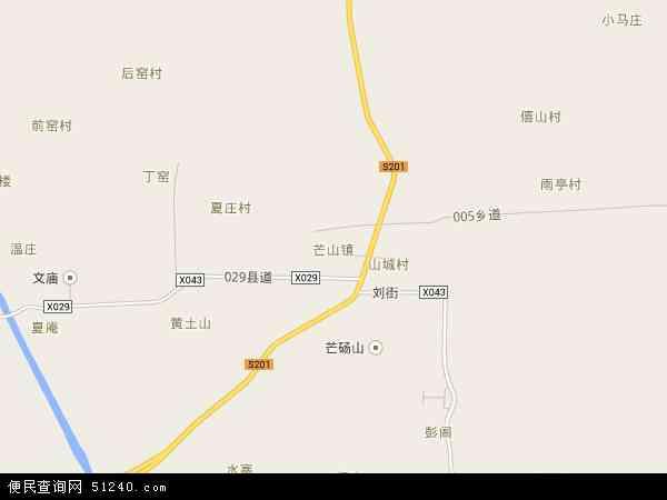 芒山镇地图 - 芒山镇电子地图 - 芒山镇高清地图 - 2016年芒山镇地图