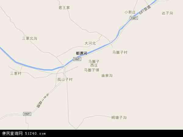 中国河北省秦皇岛市青龙满族自治县马圈子镇地图(卫星地图)