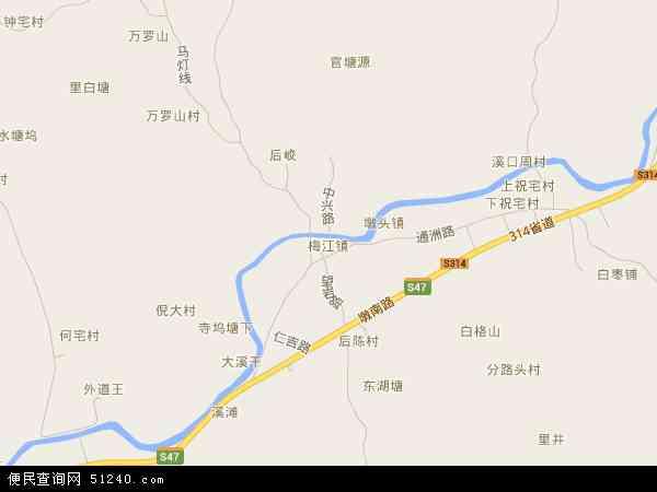 中国浙江省金华市兰溪市梅江镇地图(卫星地图)