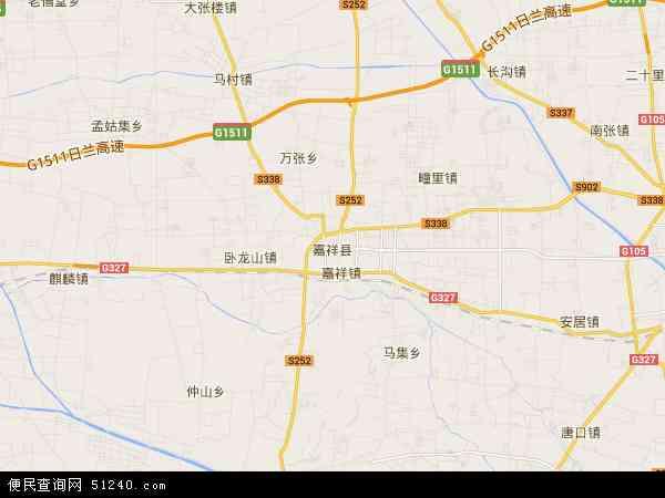 中国山东省济宁市嘉祥县孟姑集镇地图(卫星地图)