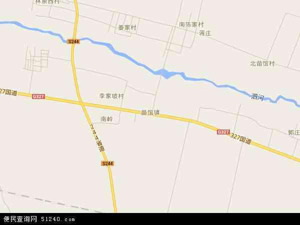 苗馆镇2016年卫星地图 中国山东省济宁市泗水县苗馆镇地图