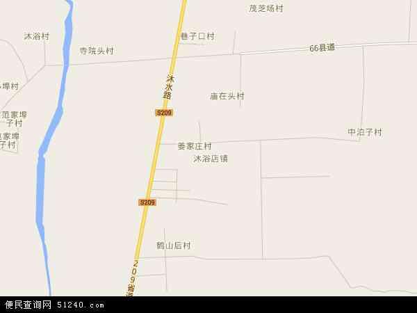 中国山东省烟台市莱阳市沐浴店镇地图(卫星地图)