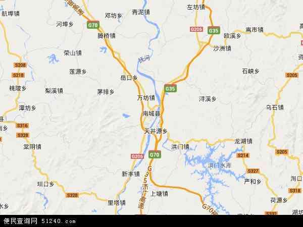 中国江西省抚州市南城县地图(卫星地图)图片
