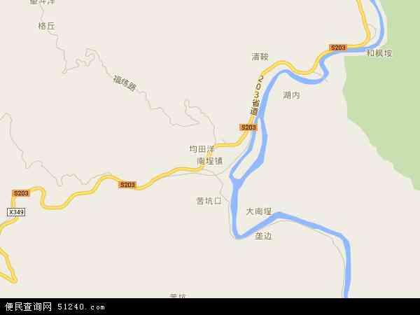 中国福建省泉州市德化县南埕镇地图(卫星地图)