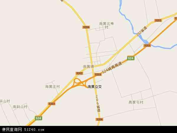 南黄镇地图 - 南黄镇电子地图
