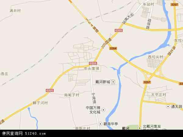 中国河北省秦皇岛市抚宁县牛头崖镇地图(卫星地图)
