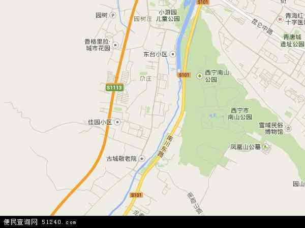 南川西路高清卫星地图 南川西路2016年卫星地图 中国青海省西宁市图片