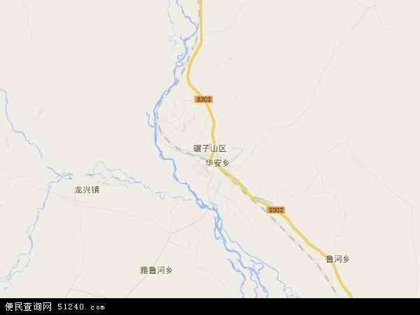 碾子山区地图- 碾子山区卫星地图...