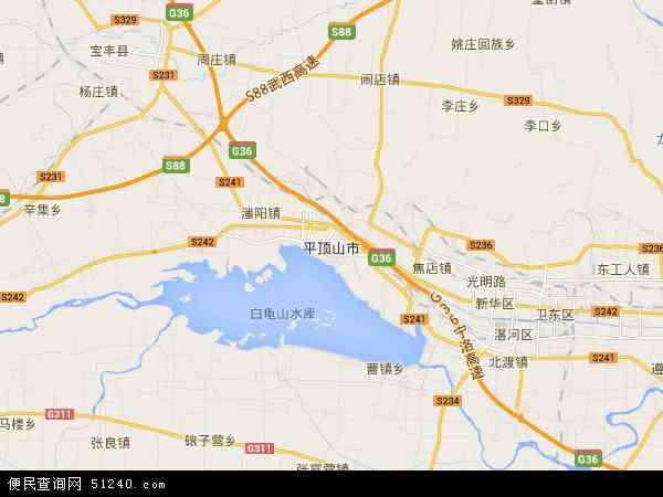 平顶山市地图 平顶山市卫星地图高清图片