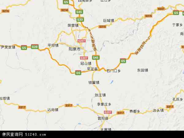 平定县地图 - 平定县卫星地图