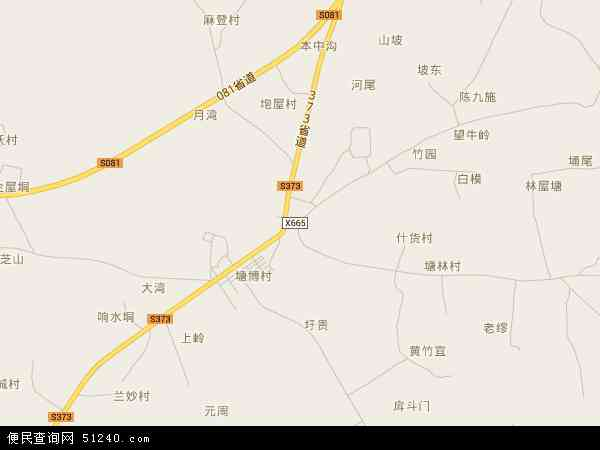 中国广东省湛江市坡头区坡头镇地图(卫星地图)