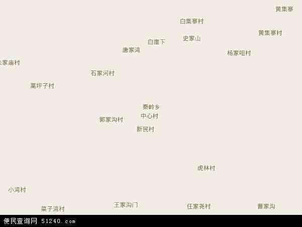 秦岭乡地图 - 秦岭乡卫星地图