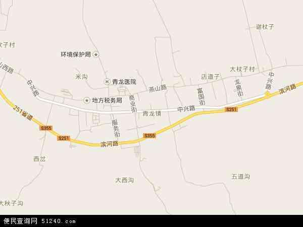 中国河北省秦皇岛市青龙满族自治县青龙镇地图(卫星地图)