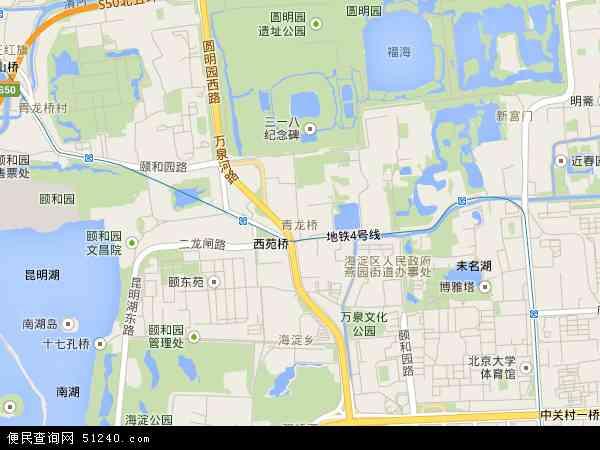 中国北京市海淀区青龙桥地图(卫星地图)