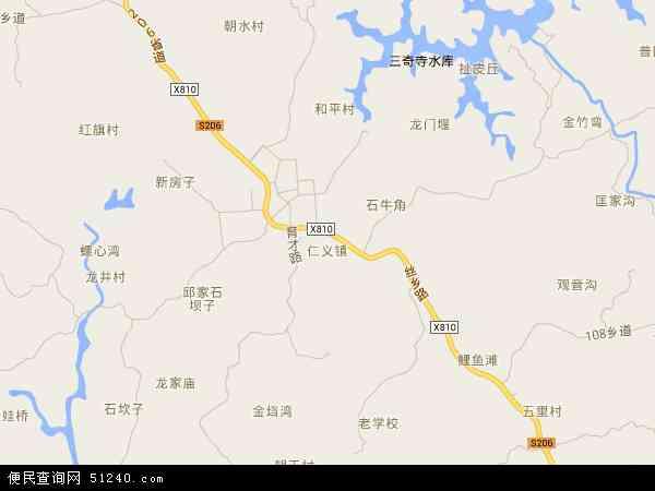 中国重庆市荣昌县仁义镇地图(卫星地图)