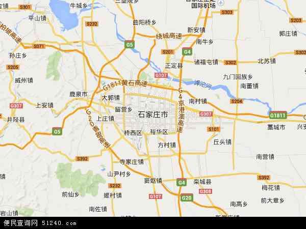 石家庄市地图 - 石家庄市卫星地图