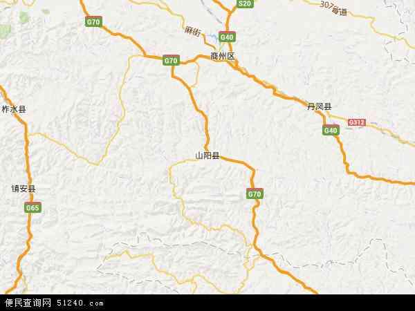 山阳县地图 山阳县卫星地图 山阳县高清航拍地图 山阳县高清卫星地图