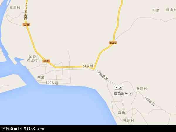 最新神泉镇地图,2016神泉镇地图高清版