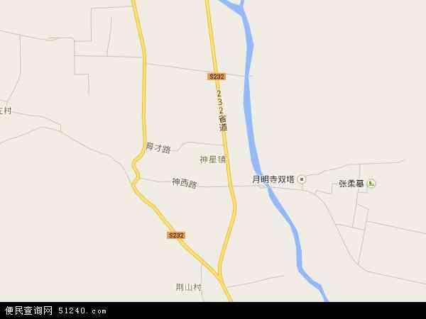 最新神星镇地图,2016神星镇地图高清版