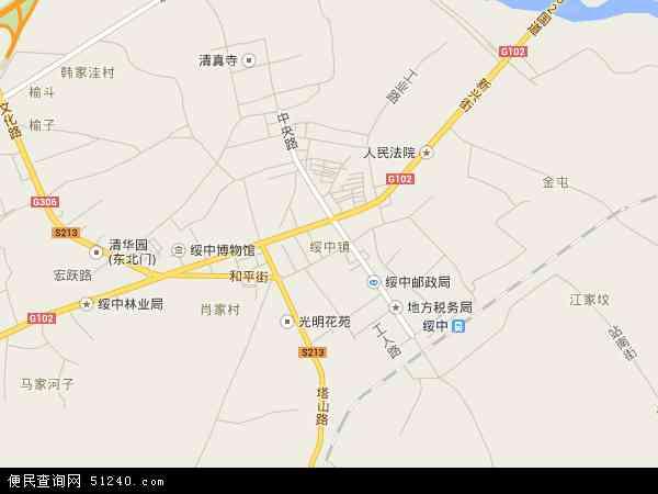 绥中镇地图 - 绥中镇卫星地图