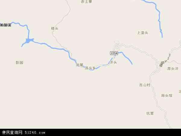 中国福建省泉州市德化县汤头乡地图(卫星地图)