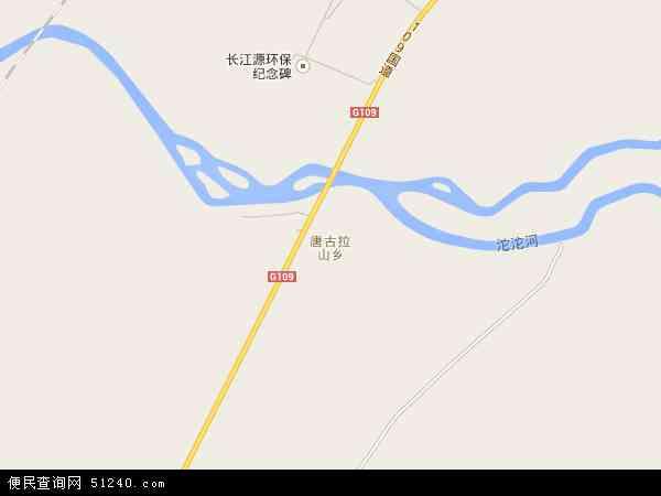 中国青海省海西蒙古族藏族自治州格尔木市唐古拉镇地图(卫星地图)