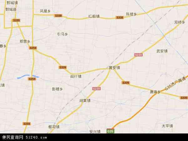 中国山东省菏泽市郓城县唐庙镇地图(卫星地图)