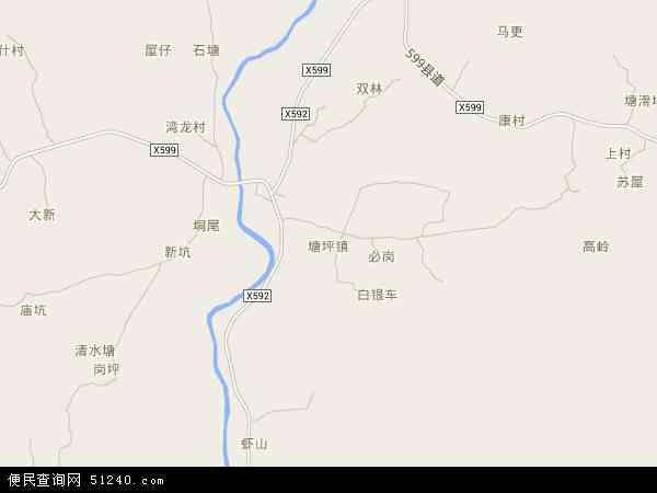 塘坪镇高清卫星地图 塘坪镇2016年卫星地图 中国广东省阳江市阳东