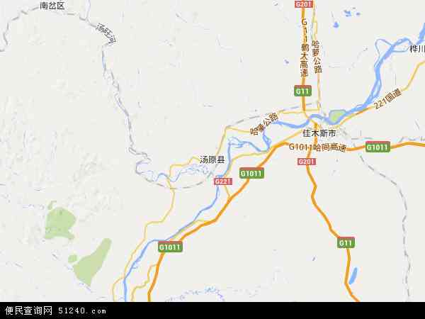 汤原县地图 - 汤原县电子地图 - 汤原县高清地图 - 2017年汤原县地图