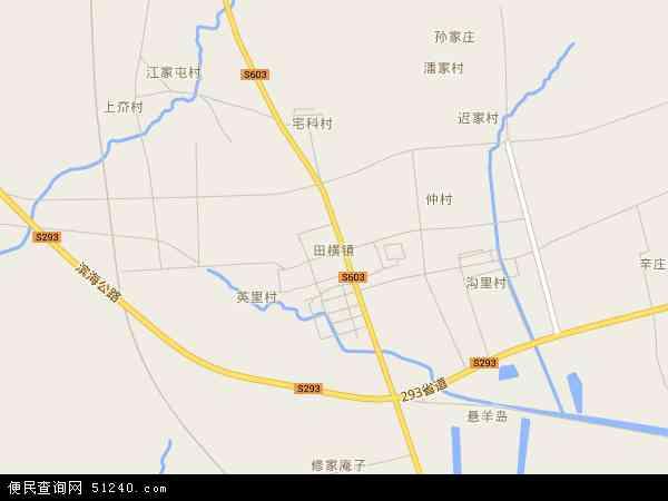 中国山东省青岛市即墨市田横镇地图(卫星地图)
