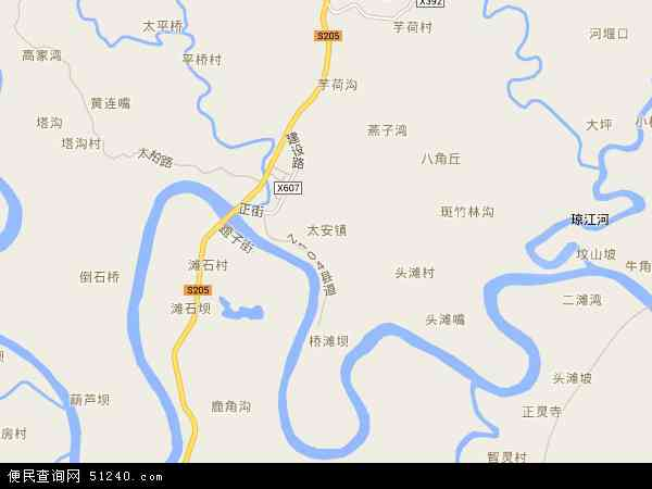 最新太安镇地图,2016太安镇地图高清版