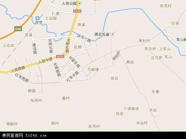 万城镇地图 万城镇卫星地图 万城镇高清航拍地图 万城镇高清卫星地图 图片