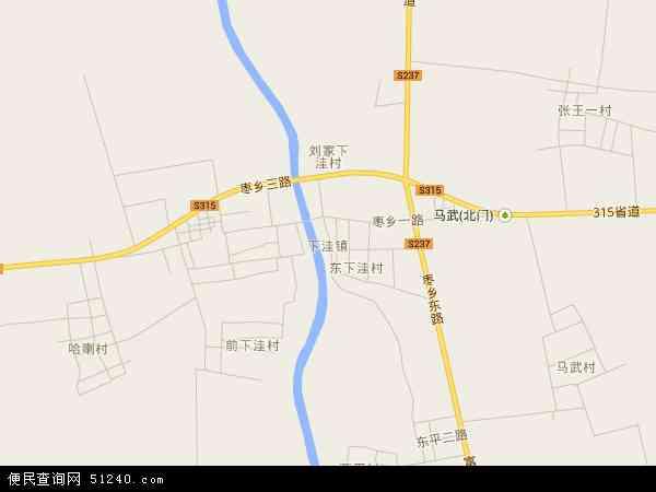 中国山东省滨州市沾化县下洼镇地图(卫星地图)