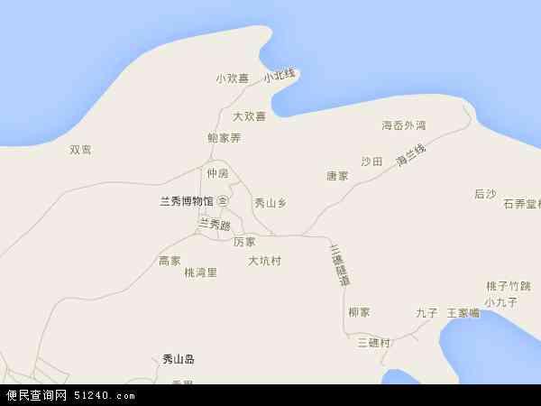 中国浙江省舟山市岱山县秀山乡地图(卫星地图)