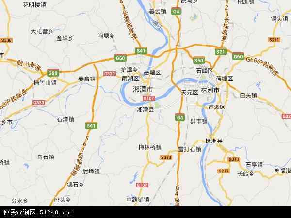 湘潭县地图 - 湘潭县卫星地图