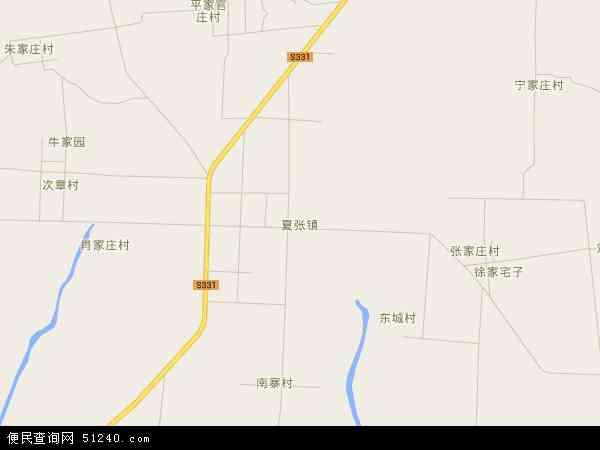 夏张镇地图 - 夏张镇卫星地图