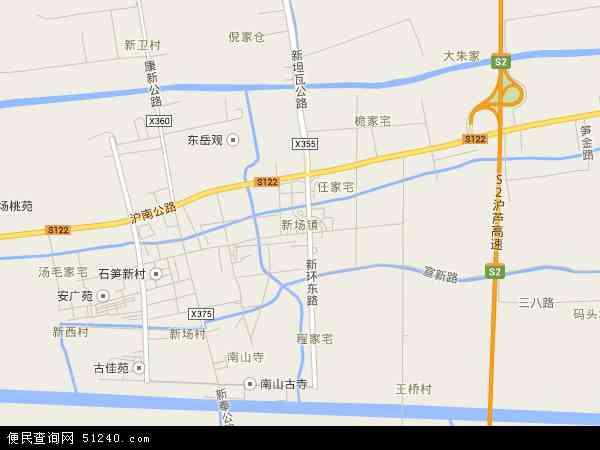 新场镇地图 - 新场镇卫星地图 - 新场镇高清航拍地图
