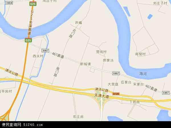 新城镇地图 新城镇卫星地图 新城镇高清航拍地图 新城镇高清卫星地图 新城镇2018年卫星地图 中国天津市滨海新区新城镇地图