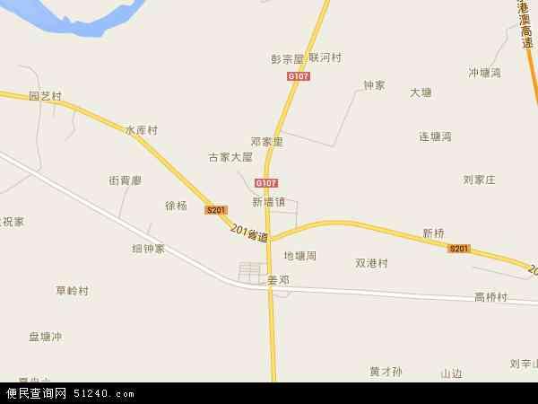 新墙镇地图 - 新墙镇电子地图 - 新墙镇高清地图 - 2017年新墙镇地图